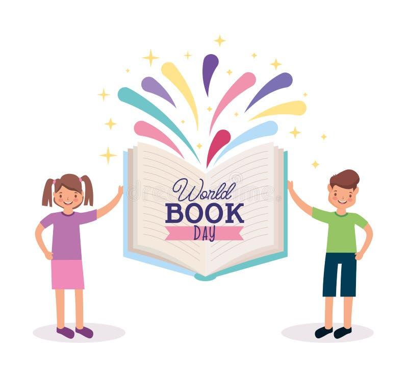 Κάρτα ημέρας παγκόσμιων βιβλίων ελεύθερη απεικόνιση δικαιώματος
