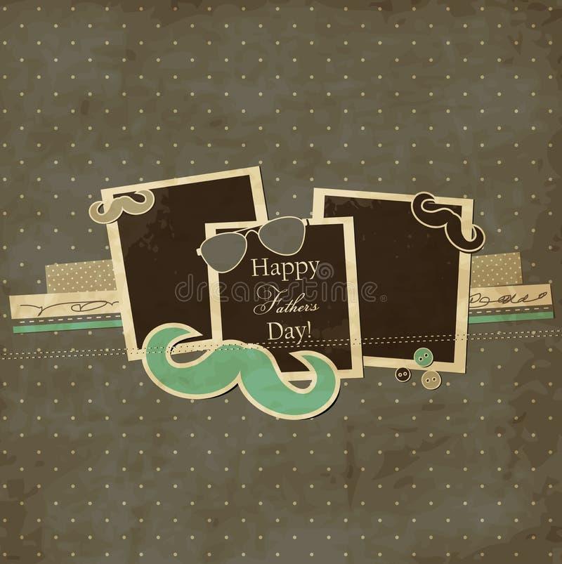 Κάρτα ημέρας πατέρων απεικόνιση αποθεμάτων