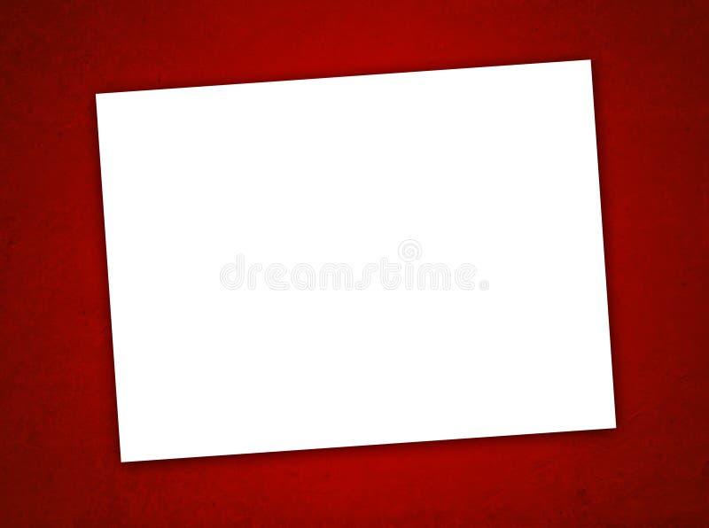 Κάρτα ημέρας του Λευκού βαλεντίνου της Βίβλου στην κόκκινη ανασκόπηση στοκ φωτογραφία με δικαίωμα ελεύθερης χρήσης