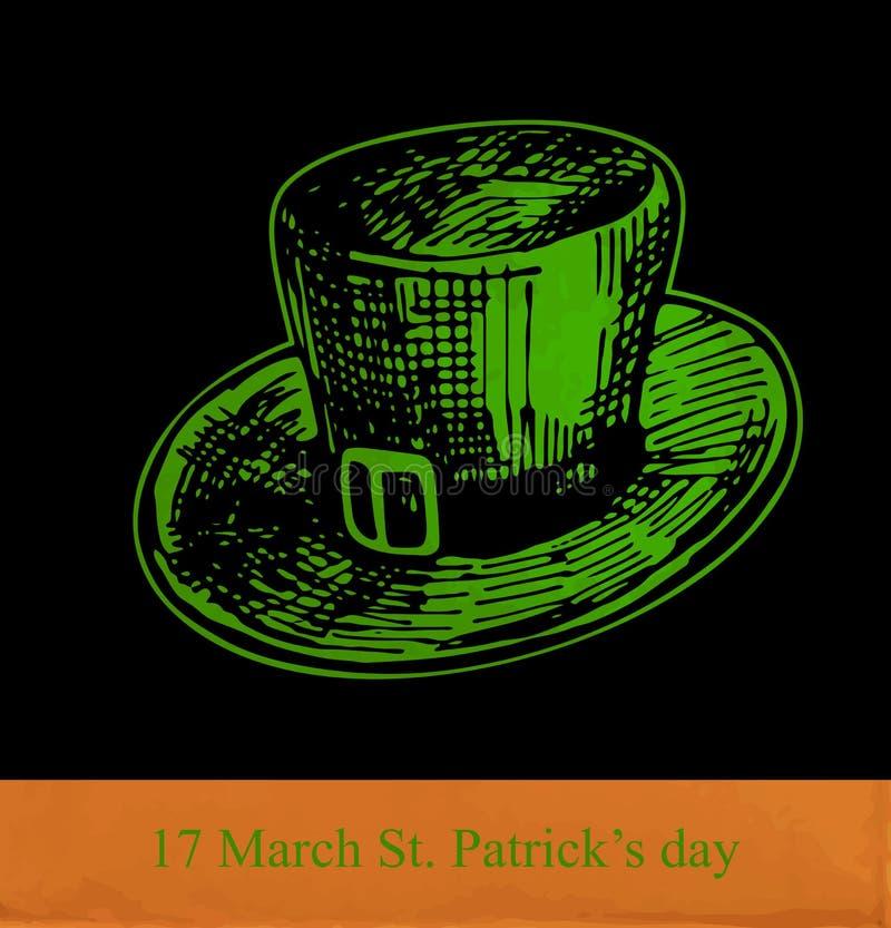 Κάρτα ημέρας του ST Πάτρικ ελεύθερη απεικόνιση δικαιώματος