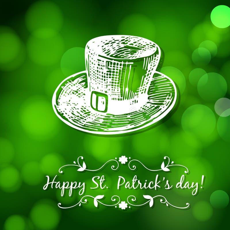 Κάρτα ημέρας του ST Πάτρικ διανυσματική απεικόνιση