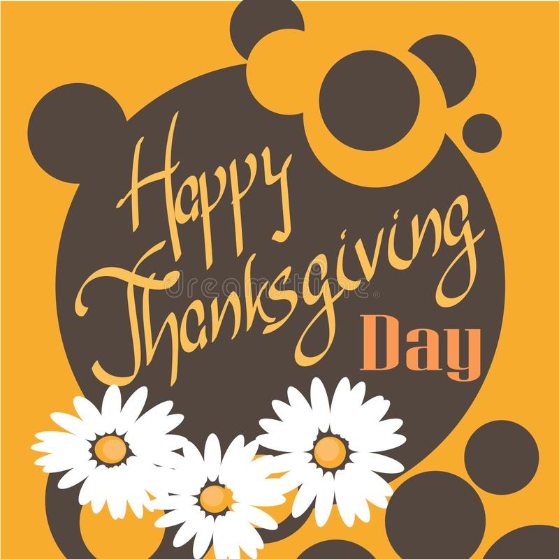 Κάρτα ημέρας των ευχαριστιών στοκ εικόνα με δικαίωμα ελεύθερης χρήσης