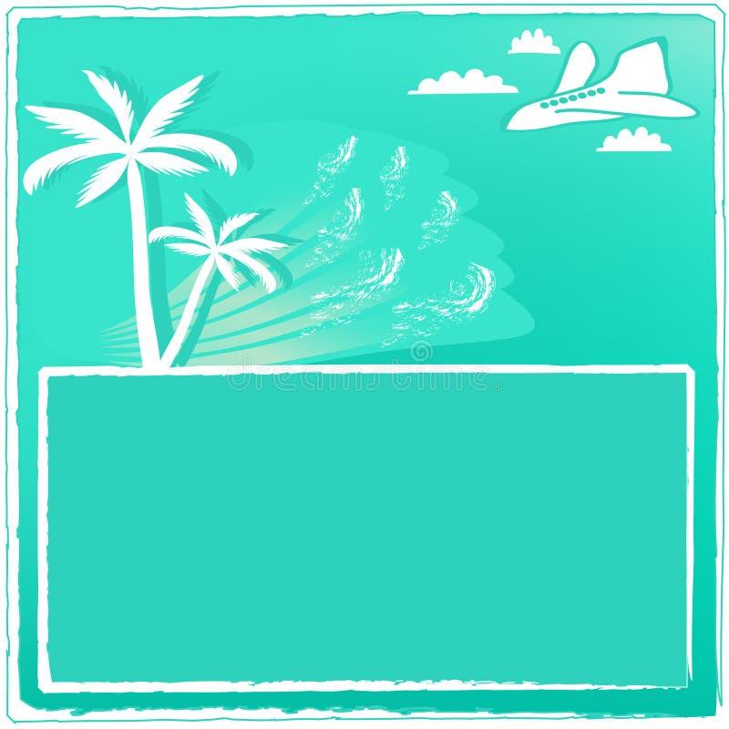 Κάρτα θερινού θερέτρου διανυσματική απεικόνιση