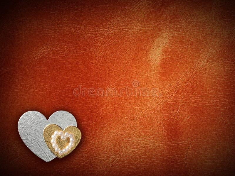 Κάρτα διακοπών με την καρδιά ως σύμβολο της αγάπης στοκ εικόνα