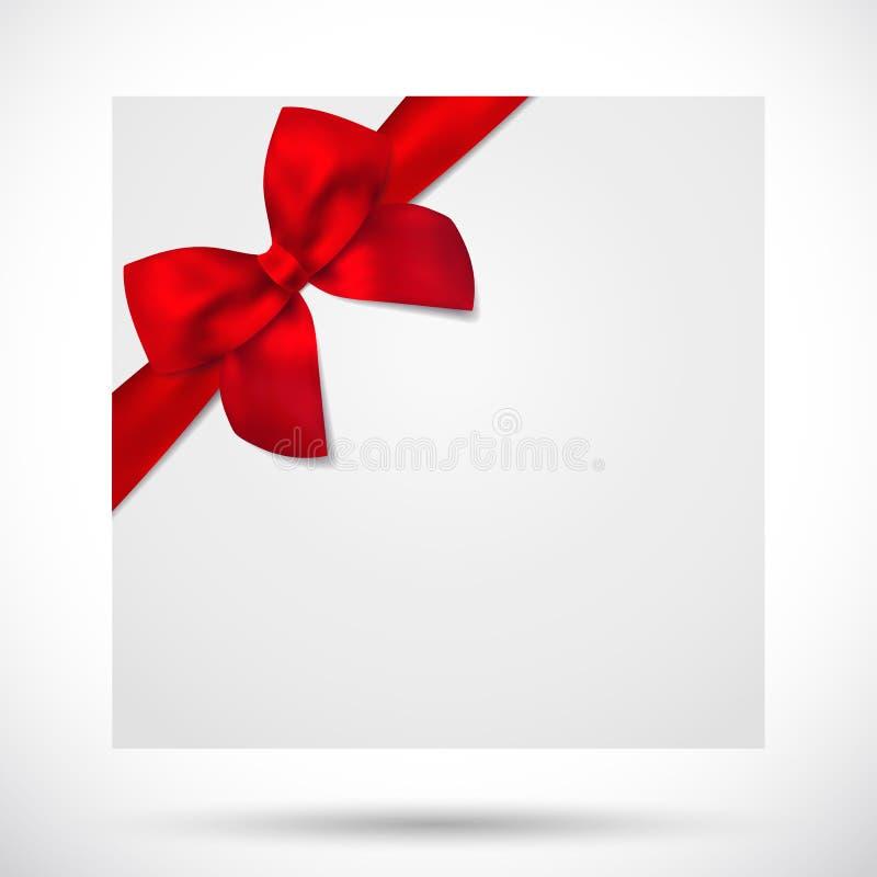 Κάρτα διακοπών, Χριστούγεννα/κάρτα γενεθλίων δώρων, τόξο διανυσματική απεικόνιση