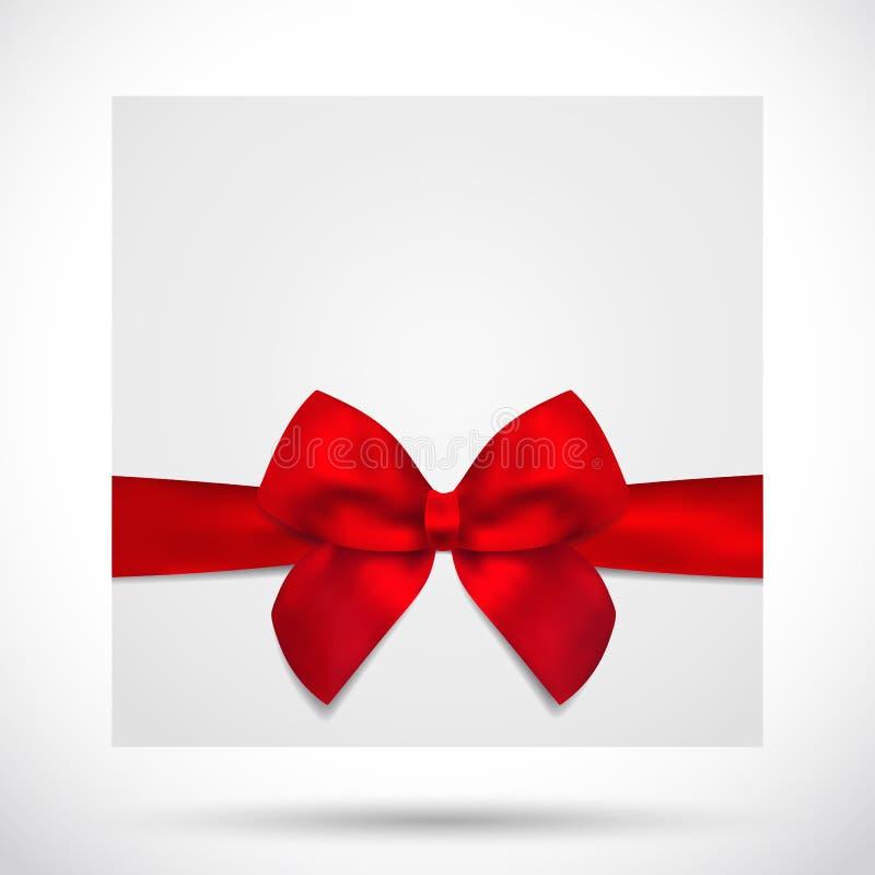 Κάρτα διακοπών, Χριστούγεννα/κάρτα γενεθλίων δώρων, τόξο ελεύθερη απεικόνιση δικαιώματος
