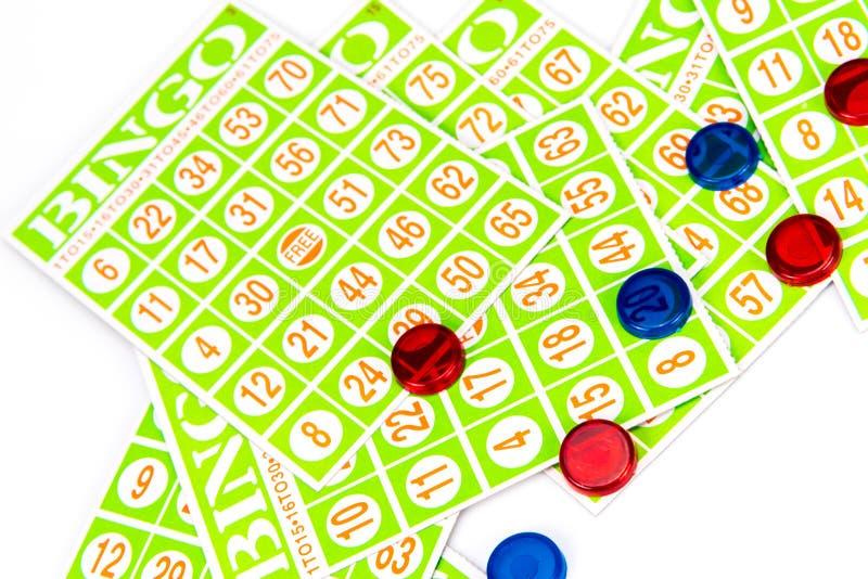 Κάρτα και τσιπ Bingo στοκ φωτογραφία με δικαίωμα ελεύθερης χρήσης