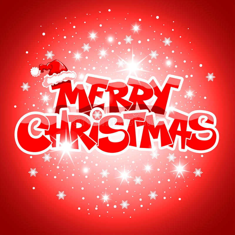 Κάρτα Καλών Χριστουγέννων απεικόνιση αποθεμάτων