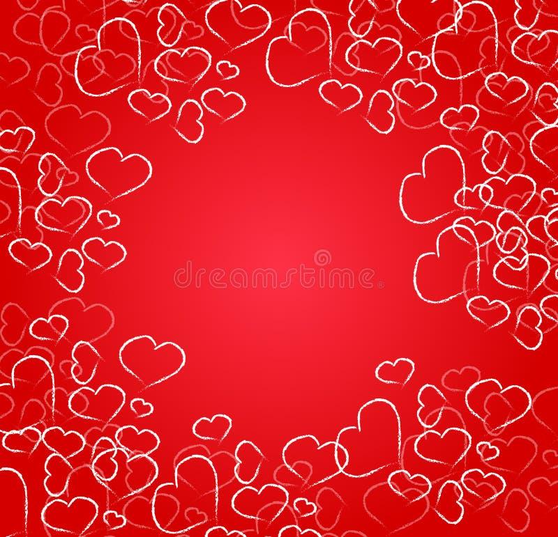 Κάρτα καρδιών στοκ εικόνα
