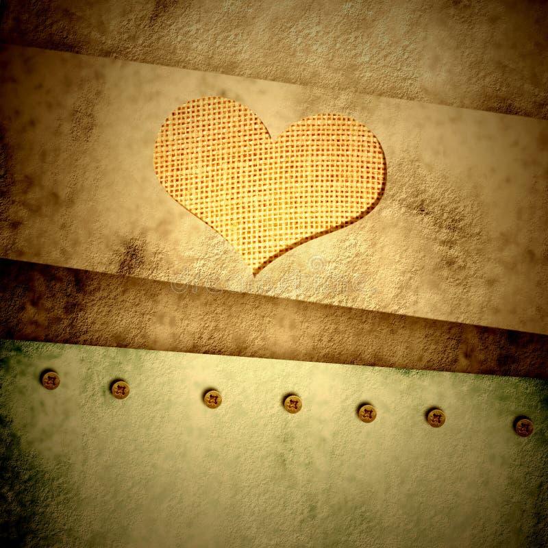 Κάρτα καρδιών Grunge ελεύθερη απεικόνιση δικαιώματος