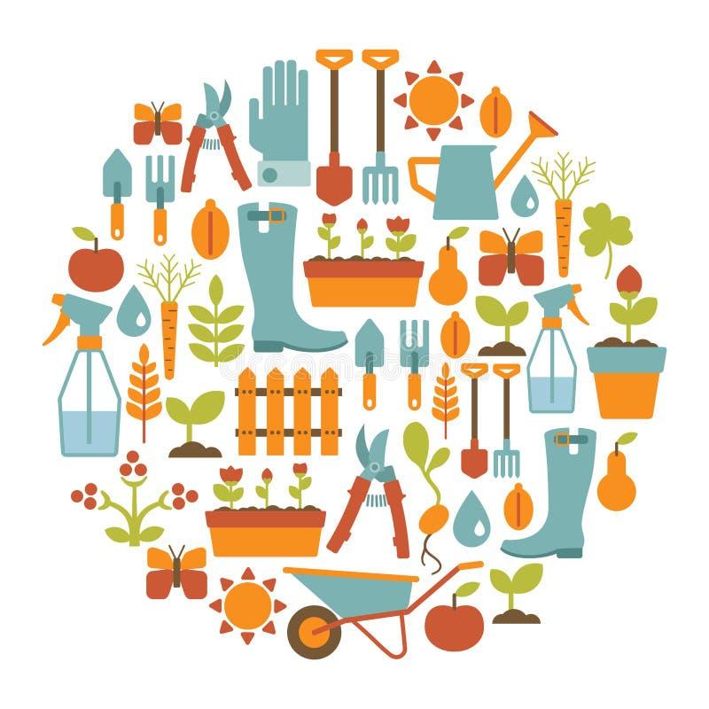 Κάρτα κηπουρικής ελεύθερη απεικόνιση δικαιώματος