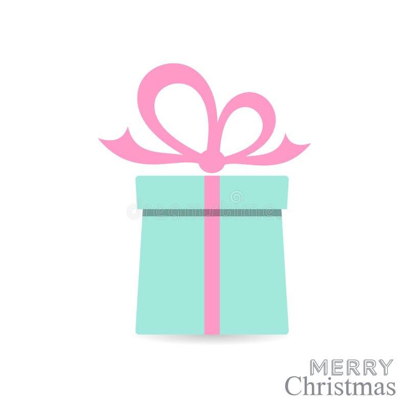 Κάρτα κιβωτίων δώρων Χριστουγέννων διανυσματική απεικόνιση