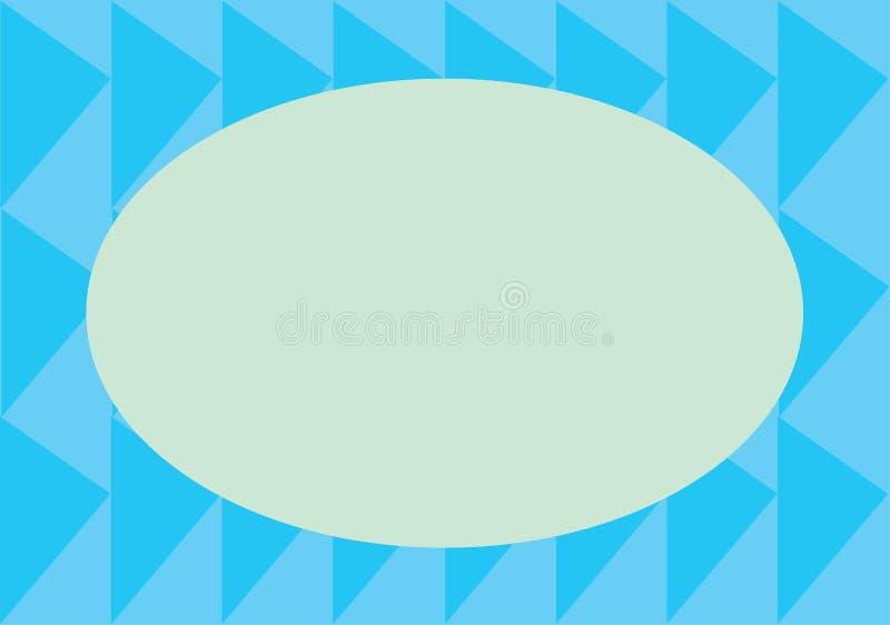Κάρτα με τα μπλε τρίγωνα στοκ φωτογραφίες με δικαίωμα ελεύθερης χρήσης