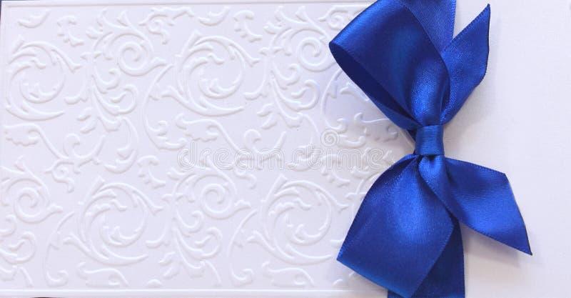 κάρτα με την μπλε ταινία στοκ φωτογραφίες