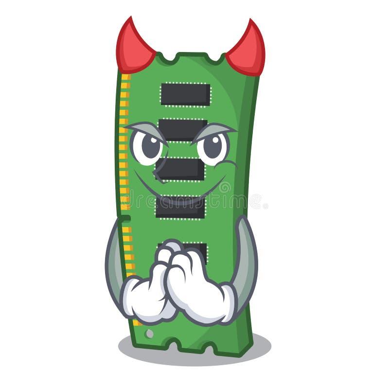 Κάρτα μνήμης RAM διαβόλων στο χαρακτήρα PC απεικόνιση αποθεμάτων