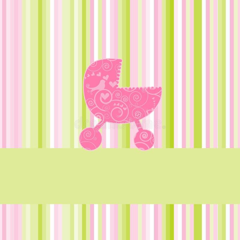 κάρτα μωρών άφιξης ανακοίνω&sigma ελεύθερη απεικόνιση δικαιώματος