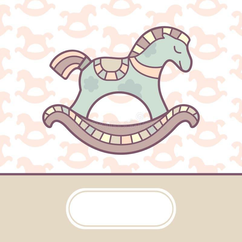 κάρτα μωρών άφιξης χαριτωμένη διανυσματική απεικόνιση