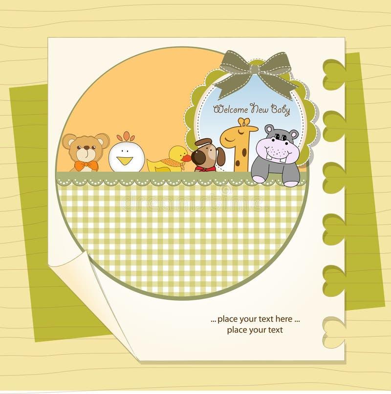 κάρτα μωρών ανακοίνωσης νέα διανυσματική απεικόνιση