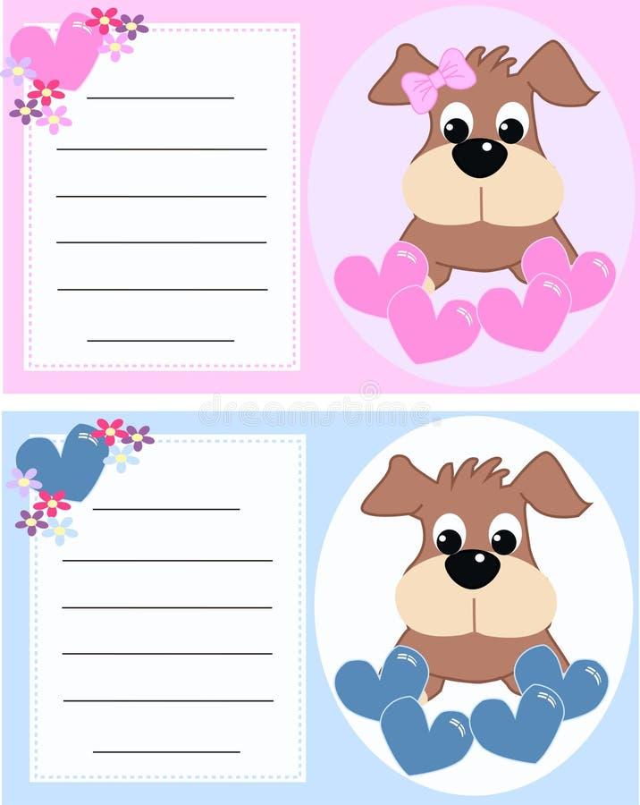 κάρτα μωρών ανακοίνωσης απεικόνιση αποθεμάτων