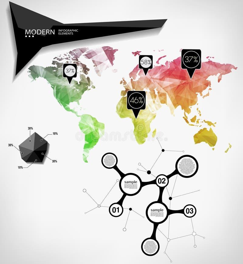 Κάρτα παγκόσμιων χαρτών ελεύθερη απεικόνιση δικαιώματος