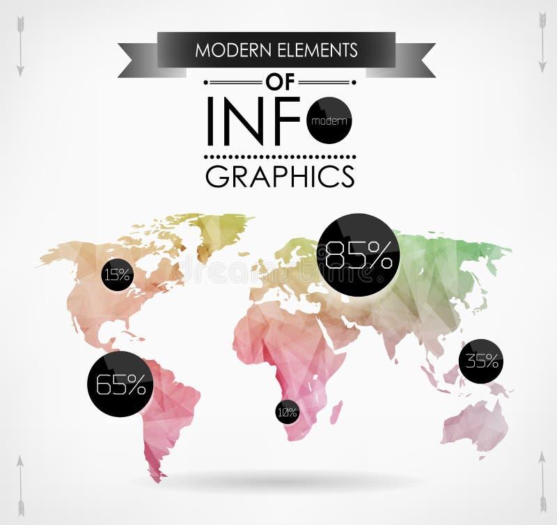 Κάρτα παγκόσμιων χαρτών απεικόνιση αποθεμάτων