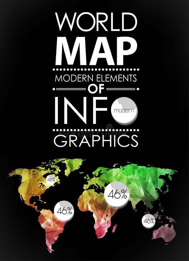 Κάρτα παγκόσμιων χαρτών διανυσματική απεικόνιση