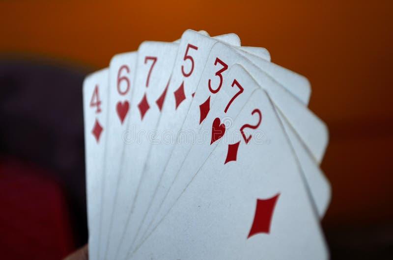 Κάρτα παιχνιδιού διαθέσιμη στοκ εικόνες με δικαίωμα ελεύθερης χρήσης