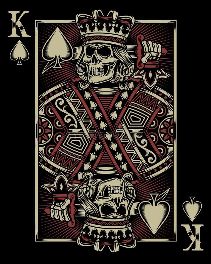 Κάρτα παιχνιδιού κρανίων διανυσματική απεικόνιση