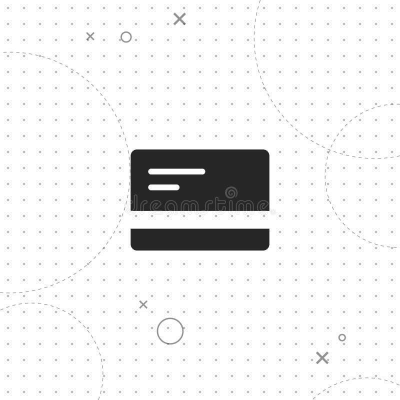 Κάρτα, πιστωτική κάρτα, διανυσματικό καλύτερο επίπεδο εικονίδιο ελεύθερη απεικόνιση δικαιώματος