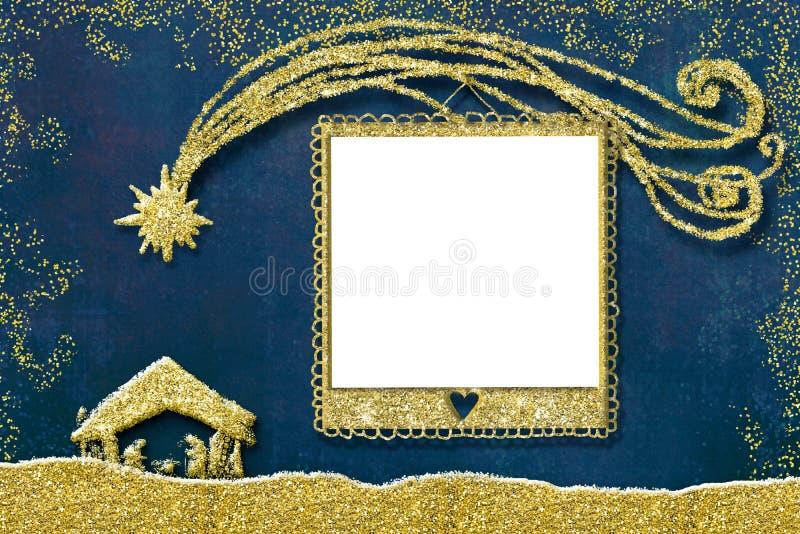 Κάρτα πλαισίων φωτογραφιών Χριστουγέννων στοκ εικόνες