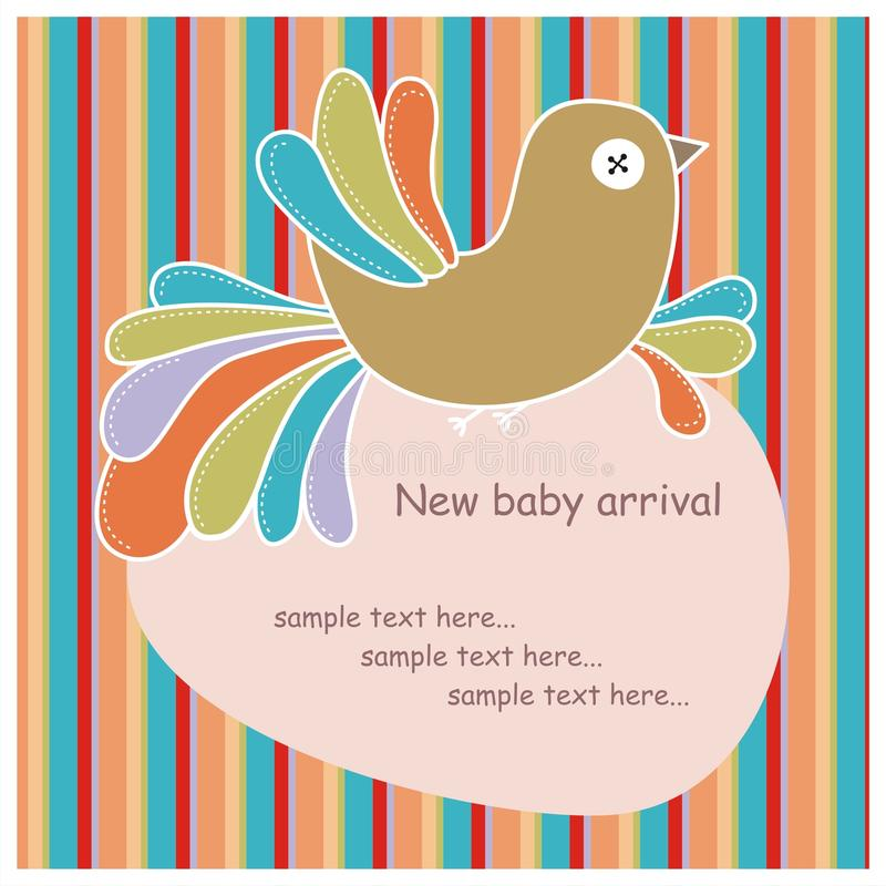 κάρτα πουλιών ζωηρόχρωμη απεικόνιση αποθεμάτων