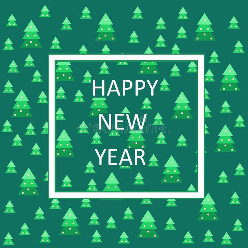 κάρτα που χαιρετά το νέο έτος απεικόνιση αποθεμάτων