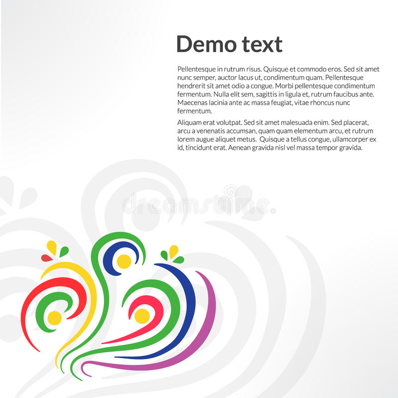 Κάρτα προτύπων με τα αφηρημένα στοιχεία και τα χρωματισμένα κύματα στοκ φωτογραφία με δικαίωμα ελεύθερης χρήσης