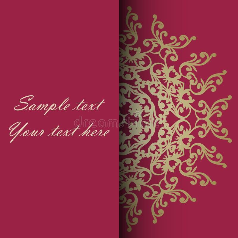 Κάρτα πρόσκλησης για το γάμο, την επέτειο, τα γενέθλια και άλλο απεικόνιση αποθεμάτων