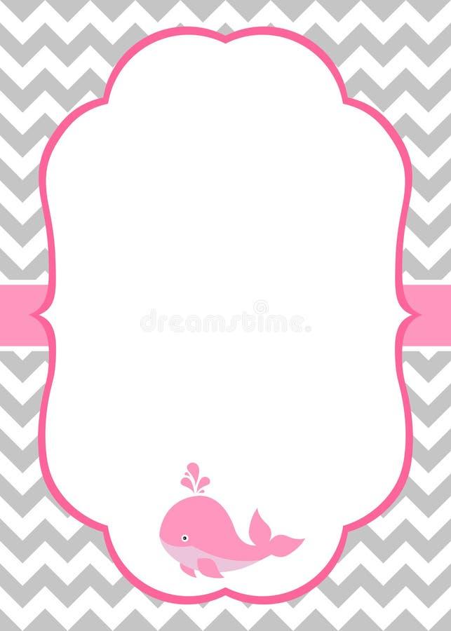 Κάρτα πρόσκλησης κοριτσάκι διανυσματική απεικόνιση