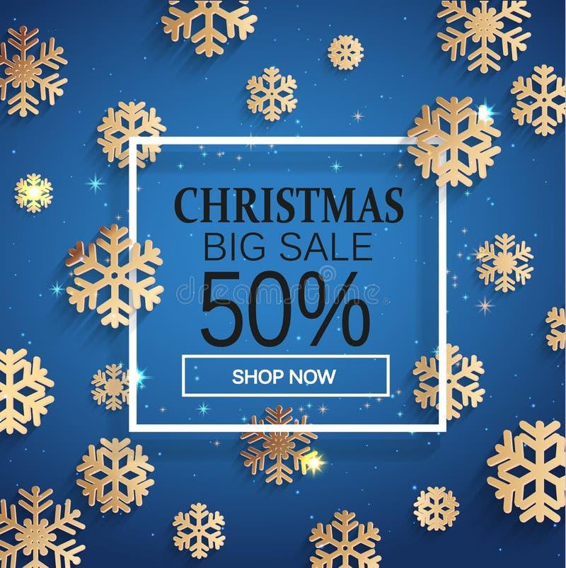 Κάρτα πώλησης Χριστουγέννων διανυσματική απεικόνιση
