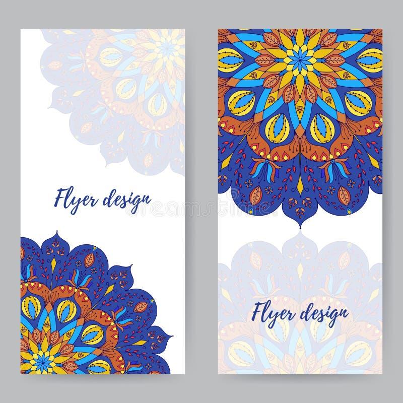 Κάρτα ραφιών με Mandala5 απεικόνιση αποθεμάτων