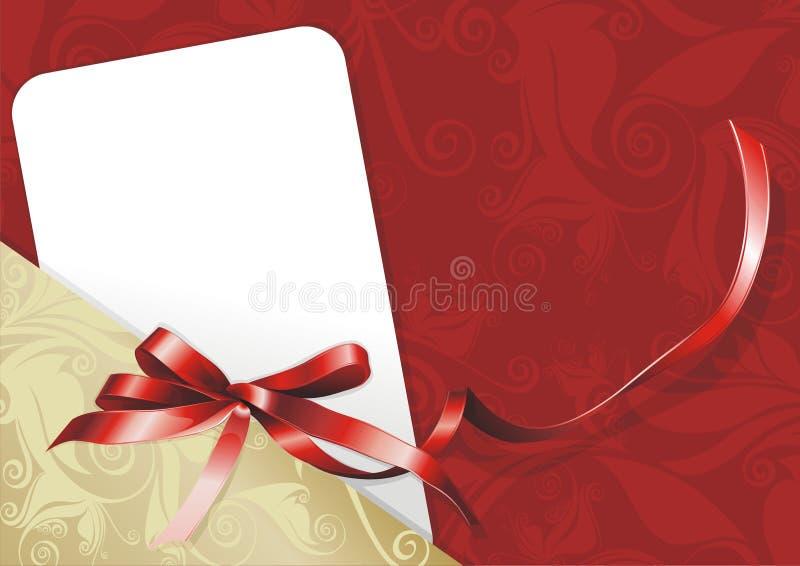 κάρτα συγχαρητήρια διανυσματική απεικόνιση