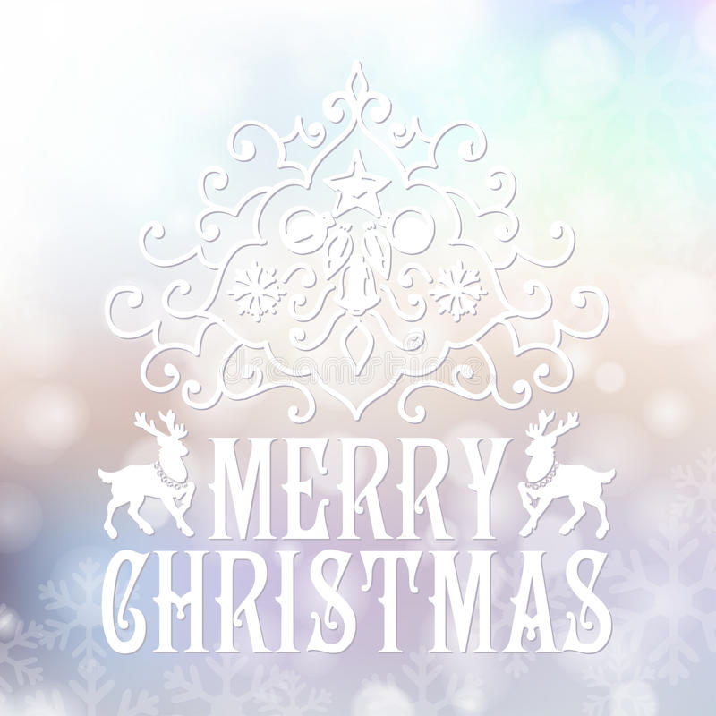 Download Κάρτα συγχαρητηρίων Χαρούμενα Χριστούγεννας σε μουτζουρωμένο Διανυσματική απεικόνιση - εικονογραφία από δαντέλλα, σχέδιο: 62703681