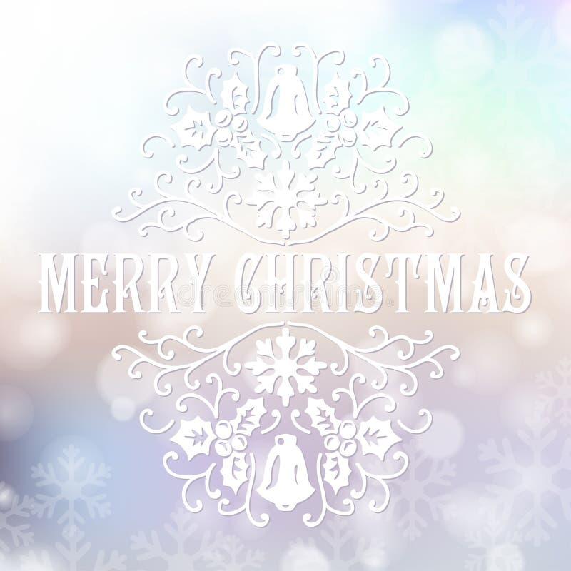Download Κάρτα συγχαρητηρίων Χαρούμενα Χριστούγεννας σε μουτζουρωμένο Διανυσματική απεικόνιση - εικονογραφία από χριστούγεννα, δημιουργικός: 62703705