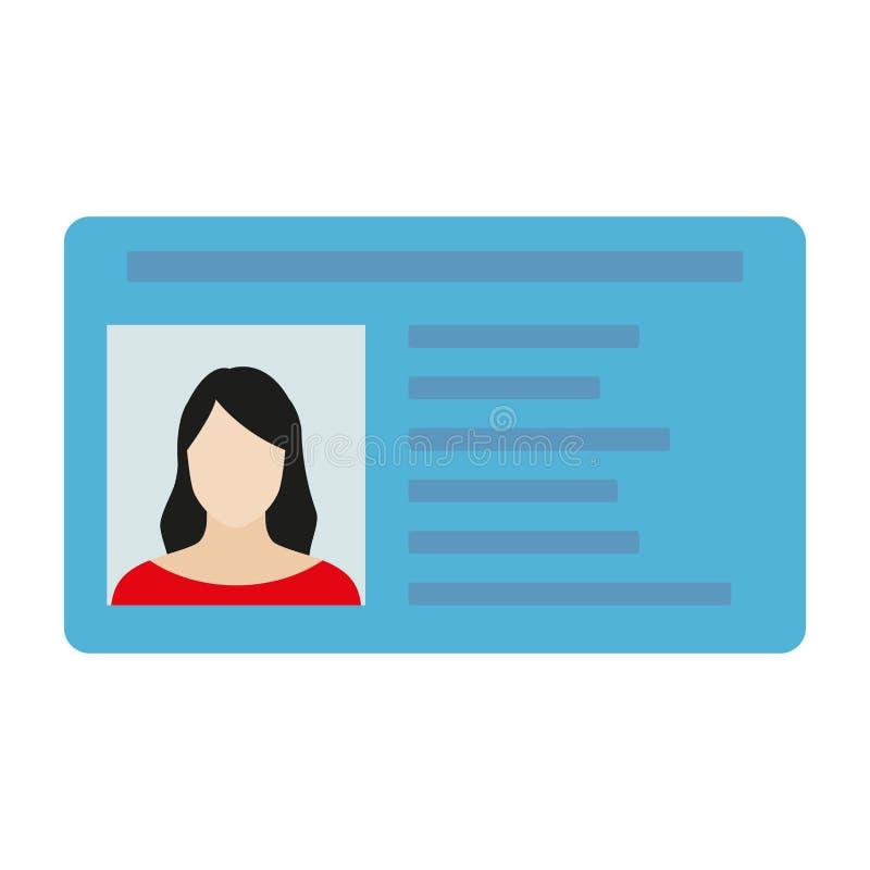 Κάρτα ταυτότητας ή άδεια οδήγησης αυτοκινήτων Διανυσματική απεικόνιση στο επίπεδο ύφος ελεύθερη απεικόνιση δικαιώματος