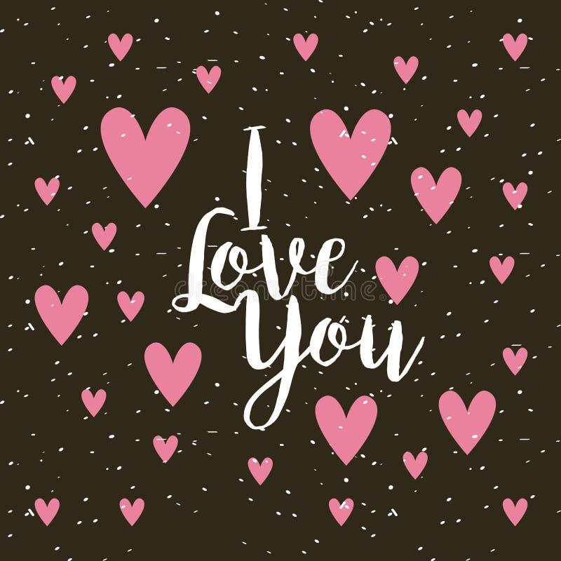 Κάρτα της αγάπης ι εσείς ελεύθερη απεικόνιση δικαιώματος