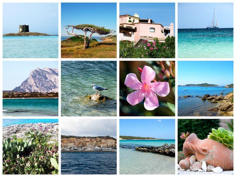 Κάρτα της Σαρδηνίας - Ιταλία στοκ φωτογραφία