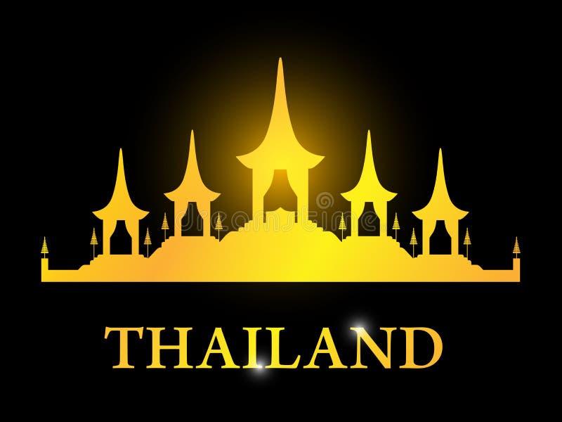 Κάρτα της Ταϊλάνδης με τη βασιλική νεκρική πυρά Rama 9 ελεύθερη απεικόνιση δικαιώματος
