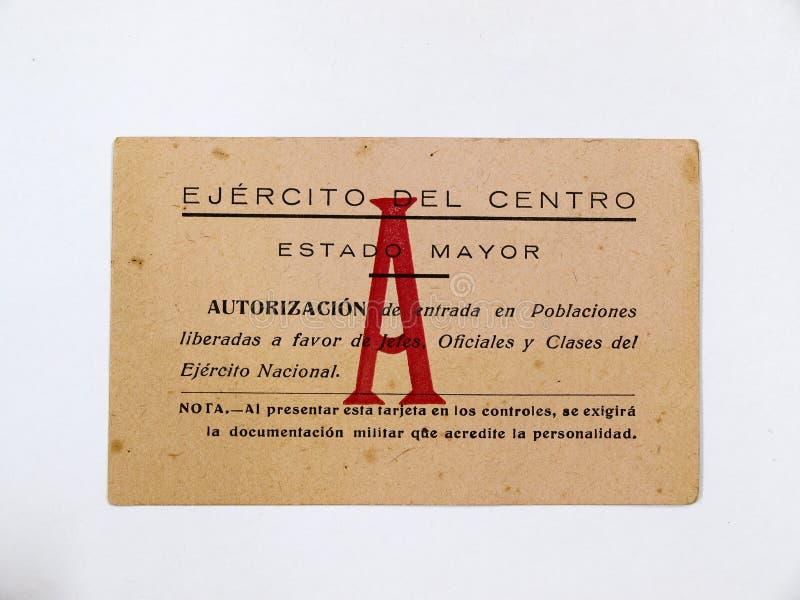 Κάρτα του στρατού Francoist του κέντρου αστικός ισπανικός πόλεμο&s απεικόνιση αποθεμάτων