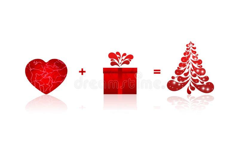 Κάρτα υποβάθρου Χριστουγέννων διανυσματική απεικόνιση