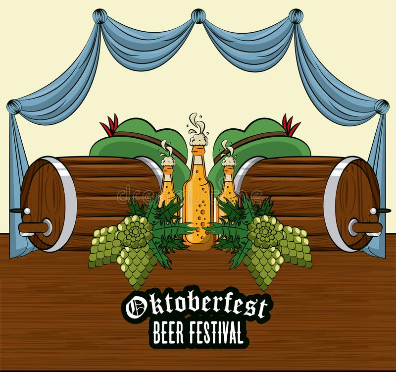 Κάρτα φεστιβάλ Oktober ελεύθερη απεικόνιση δικαιώματος