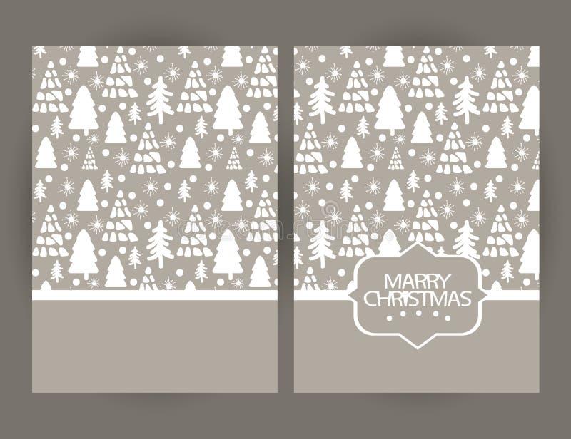 Κάρτα χαιρετισμών Χαρούμενα Χριστούγεννας με τα σύμβολα και το χέρι Χριστουγέννων απεικόνιση αποθεμάτων
