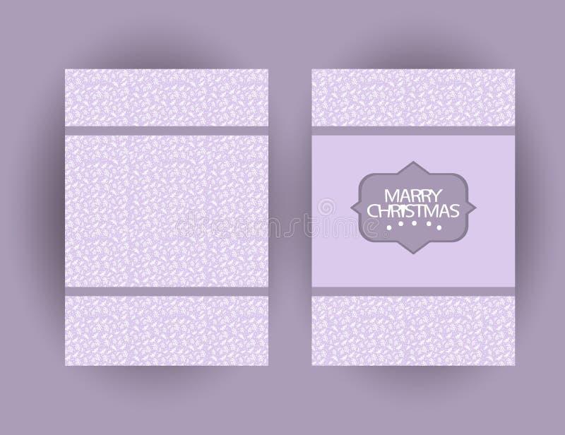 Κάρτα χαιρετισμών Χαρούμενα Χριστούγεννας με τα σύμβολα Χριστουγέννων και συρμένα τα χέρι στοιχεία απεικόνιση αποθεμάτων