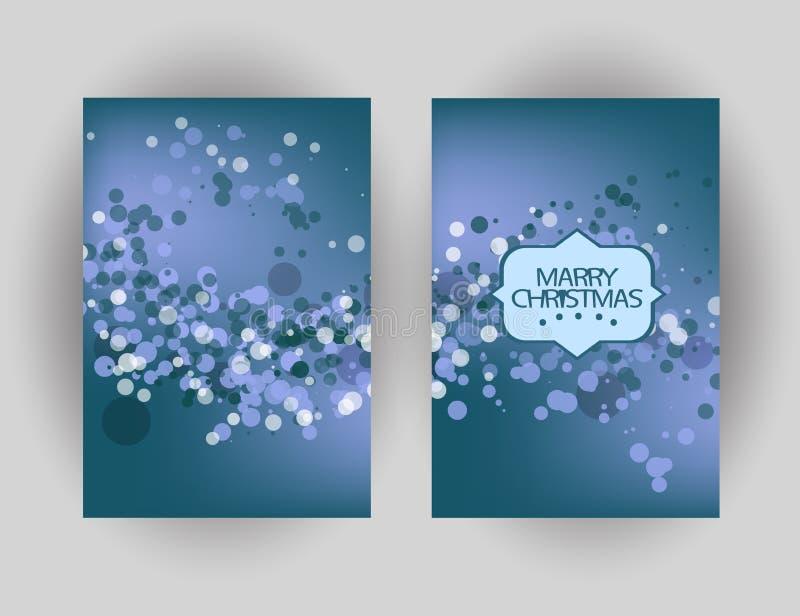 Κάρτα χαιρετισμών Χαρούμενα Χριστούγεννας με το λαμπιρίζοντας υπόβαθρο Winte ελεύθερη απεικόνιση δικαιώματος